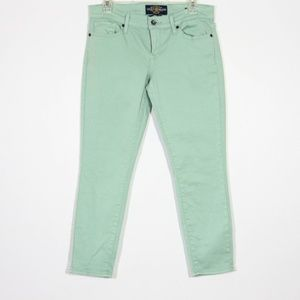 Lucky Brand Zoe Straight Crop Jeans Mint Green 6